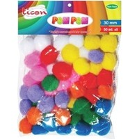 Ticon Pastel Renk Pom Pom 30 Mm 50 Adet