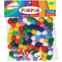 Ticon Pastel Renk Pom Pom 10 Mm 100 Adet