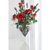 Annaflower Kalp Şeklinde Yapay Aranjman Çiçek