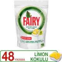 Fairy Hepsi Bir Arada Bulaşık Makinesi Deterjanı Kapsülü Limon Kokulu 48 Yıkama