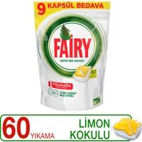 Fairy Hepsi Bir Arada Bulaşık Makinesi Deterjanı Kapsülü Limon Kokulu 60 Yıkama