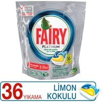 Fairy Platinum Bulaşık Makinesi Deterjanı Kapsülü Limon Kokulu 36 Yıkama