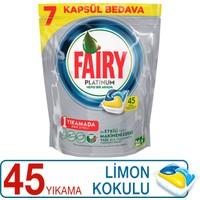 Fairy Platinum Bulaşık Makinesi Deterjanı Kapsülü Limon Kokulu 45 Yıkama