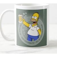Miss Cici Homer Simpson Baskılı Kupa Bardak Model 2