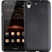 Coverzone Huawei Honor Y6 2 Karbon Silikon