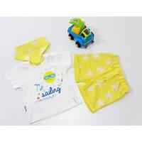 Miniworld Erkek Güneş Baskılı Şortlu Bebek Takımı Sarı