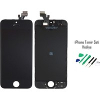 Casecrown iPhone 5 Siyah Ekran Lcd Tamir Seti Hediyeli