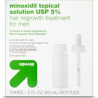 Up & Up Extra Strength Hair Regrowth Treatment for Men 3'lü 180 mL Set