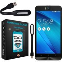 Case Man Asus Zenfone Selfie 9H Temperli Ekran Koruyucu + Katlanabilir Usb Led Lamba