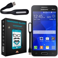 Case Man Samsung Galaxy Core 2 9H Temperli Ekran Koruyucu + Usb Led Lamba