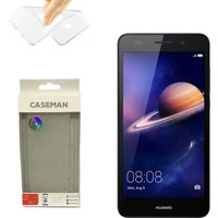 Case Man Huawei Y6 II Silikon Kılıf Ultra İnce Koruma Telefonunuza Tam Uyumlu