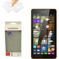 Case Man Nokia Lumia 535 Silikon Kılıf Ultra İnce Koruma Telefonunuza Tam Uyumlu