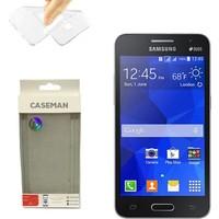 Case Man Samsung Galaxy Core 2 Silikon Kılıf Ultra İnce Koruma Telefonunuza Tam Uyumlu