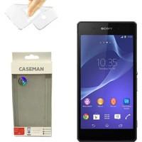 Case Man Sony Xperia E4 Silikon Kılıf Ultra İnce Koruma Telefonunuza Tam Uyumlu