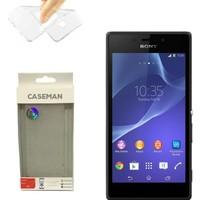 Case Man Sony Xperia M2 Silikon Kılıf Ultra İnce Koruma Telefonunuza Tam Uyumlu