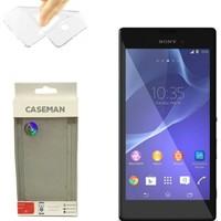 Case Man Sony Xperia T3 Silikon Kılıf Ultra İnce Koruma Telefonunuza Tam Uyumlu