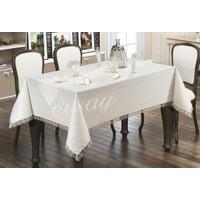 Estelica Fransız Güpürlü Masa Örtüsü 160X220