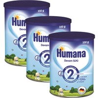 Humana 2 Metal Kutulu Devam Sütü 350 gr - 3'lü