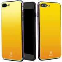 Baseus Apple iPhone 7 Kılıf Glass Serisi Renkli Rubber Case+Kırılmaz Cam