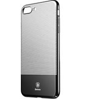 Baseus Apple iPhone 7 Plus Kılıf Lumunary Serisi Çizgili Rubber+Kırılmaz Cam