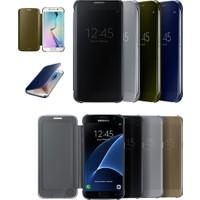 KNY Samsung Galaxy S6 Edge Kılıf Aynalı Clear View Cover