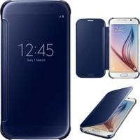 KNY Samsung Galaxy S7 Edge Kılıf Aynalı Clear View Cover