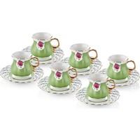 The Mia Eliz Kahve Fincanı 6 Lı - Yeşil