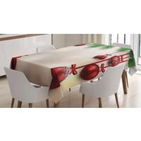 Orange Venue Noel Temalı Masa Örtüsü Yılbaşı Ağacı Kırmızı Top