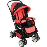 Papetto Wander Çift Yönlü Bebek Arabası Kırmızı Yağmurluk Hediyeli!