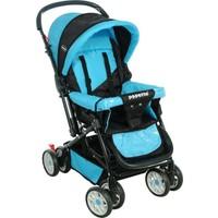 Papetto Wander Çift Yönlü Bebek Arabası Mavi Yağmurluk Hediyeli!