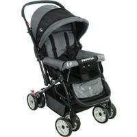 Papetto Wander Çift Yönlü Bebek Arabası Siyah Yağmurluk Hediyeli!