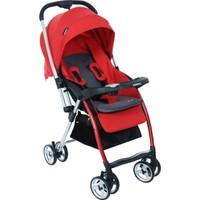 Papetto Chicago Çift Yönlü Bebek Arabası Kırmızı Yağmurluk Hediyeli!