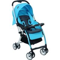 Papetto Chicago Çift Yönlü Bebek Arabası Mavi Yağmurluk Hediyeli!