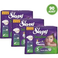 Sleepy Sensitive Bebek Bezi Junior Plus 5+ Beden 3 Adet