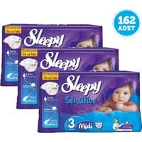 Sleepy Sensitive Bebek Bezi Midi 3 Beden 3 Adet