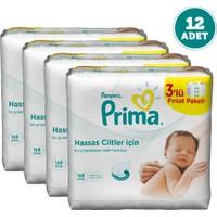 Prima Pampers Islak Havlu Hassas Cilt 56'lı x 12 Adet (672 Yaprak)