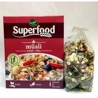 SuperFood Doğal Müsli Yulaf Chia Tohumu Karışımı Yüksek Lif Vegan Diyeti 350gr