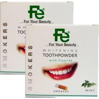 Fe Beyazlatıcı Diş Tozu Smokers - Nane x 2 Adet