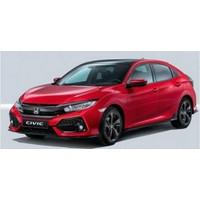 Honda Civic 2016-2017 FC5 Hatchback 2017 Işıklı Kapı Eşiği 4 Parca