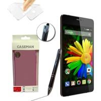 Case Man GM Discovery E7 Elite Silikon Kılıf Ultra İnce Koruma + Dokunmatik Stylus Kalem