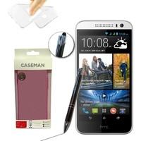 Case Man HTC Desire 616 Silikon Kılıf Ultra İnce Koruma + Dokunmatik Stylus Kalem
