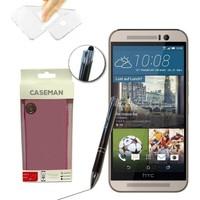 Case Man HTC One M9 Silikon Kılıf Ultra İnce Koruma + Dokunmatik Stylus Kalem