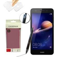 Case Man Huawei Y6 II Silikon Kılıf Ultra İnce Koruma + Dokunmatik Stylus Kalem