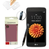 Case Man LG K7 Silikon Kılıf Ultra İnce Koruma + Dokunmatik Stylus Kalem