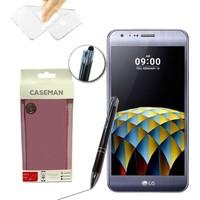 Case Man LG X Cam Silikon Kılıf Ultra İnce Koruma + Dokunmatik Stylus Kalem