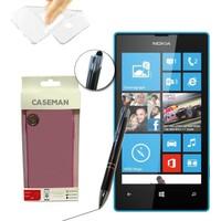Case Man Nokia Lumia 532 Silikon Kılıf Ultra İnce Koruma + Dokunmatik Stylus Kalem