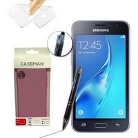 Case Man Samsung Galaxy J1 2016 Silikon Kılıf Ultra İnce Koruma + Dokunmatik Stylus Kalem