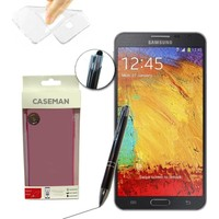 Case Man Samsung Galaxy Note 3 Neo Silikon Kılıf Ultra İnce Koruma + Dokunmatik Stylus Kalem