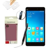 Case Man Xiaomi Mi4c Silikon Kılıf Ultra İnce Koruma + Dokunmatik Stylus Kalem