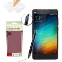 Case Man Xiaomi Mi4s Silikon Kılıf Ultra İnce Koruma + Dokunmatik Stylus Kalem